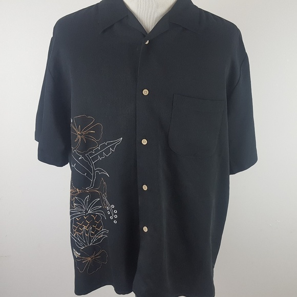 Cubavera Other - Cubavera Embroidered Button Front Shirt Mens XL